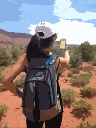 GeoPDF on Hike in Moab