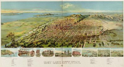 1891 Salt Lake City Bird's Eye View
