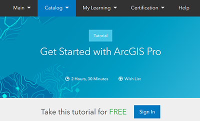 Free ESRI ArcPro Training
