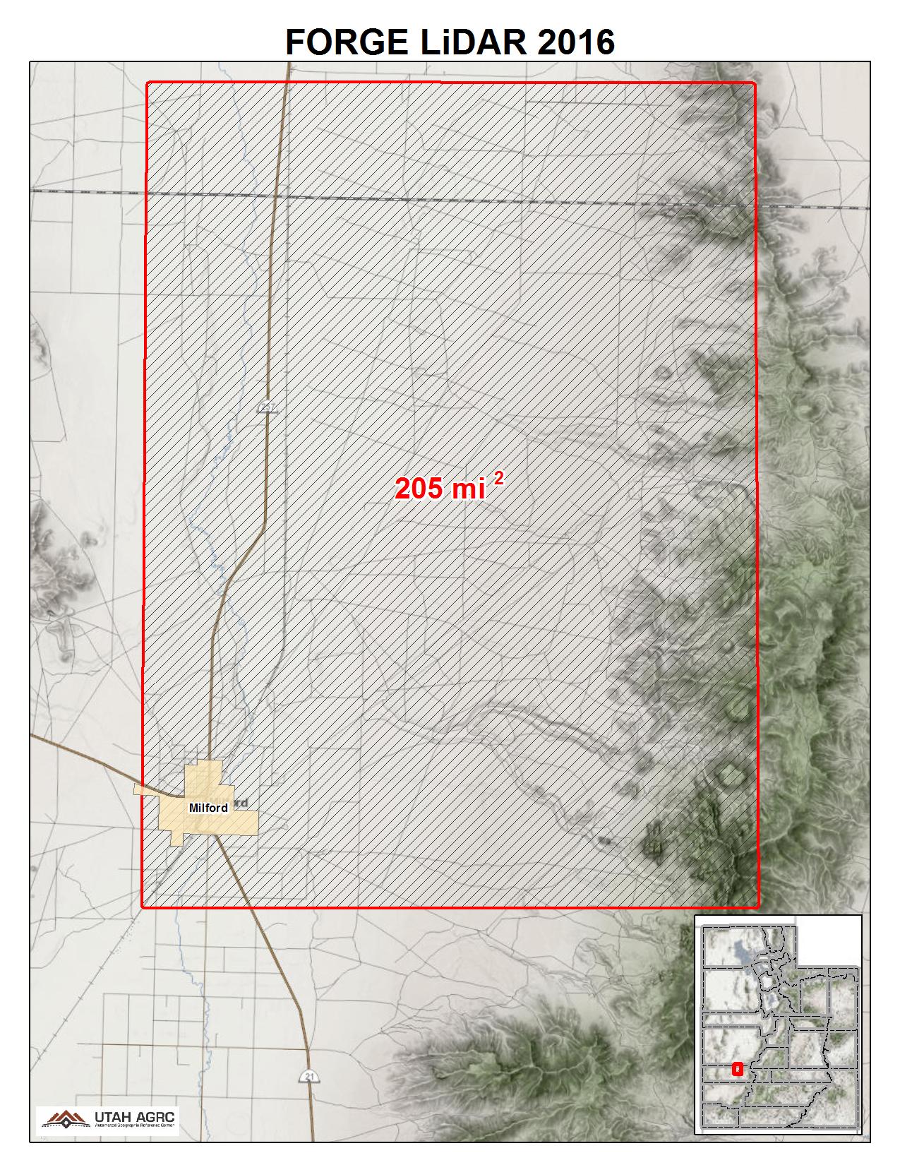 Milford Utah Map.2016 Forge Lidar Elevation Data